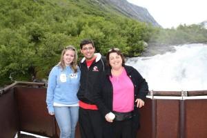 Fra venstre på bildet: Julianne, Michael og Jill