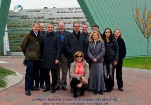 Aniridia Europas styre, og vitenskaplige komitè, ved Eye Bank Foundation i Maestre, Italia 18. nov. 2012