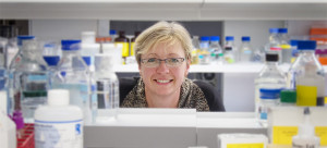 Prof. Cheryl Gregory-Evans in lab.