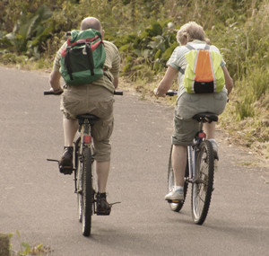 Voksne på sykkel
