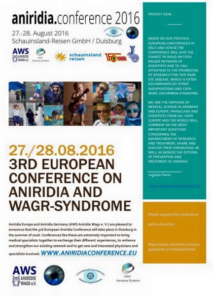 aniridia conference 2016 flyer