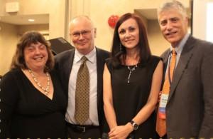 Fra venstre: Jill Nerby (leder AFI), Asbjørn Akerlie (leder AN og AE), Galina Gening (styremedlem AE og leder russisk forening) Dr. Peter Netland (fagrådet for AFI, Key Note Speaker flere konferanser)